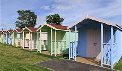 Beach huts at Maldon Prom Park