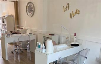Interior of LA Nails, Maldon