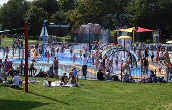 Maldon Splash Park, children's outdoor water park, located in Promenade Park, Maldon, Essex