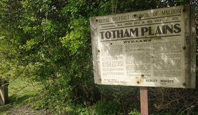 Totham Plains sign
