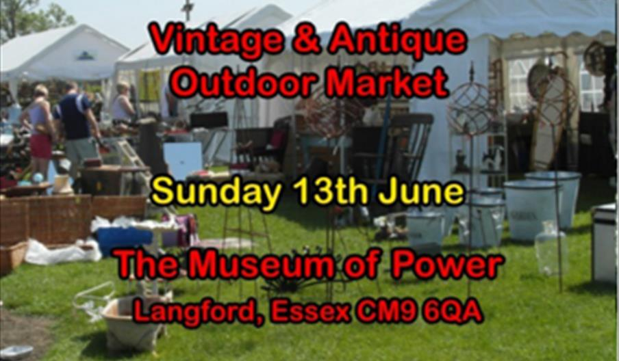 museum of power vintage market june poster