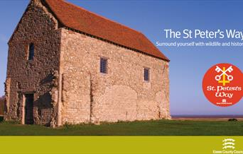 Leaflet cover for St Peter's way walking guide
