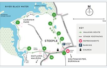 Map of Steeple Creek walking route